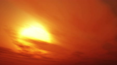 evening sun : Beautiful time lapsed sunset through the many layers of clouds. Stock Footage