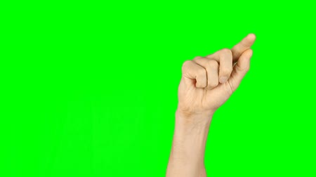 algılayıcı : Finger draw heart shape. Man hand on green screen. For animation tamplate. Gestures front view green background. Gestures hand finger on green screen. Touch virtual screen finger gestures. Technology.