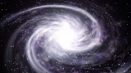 фантастический : Rotating spiral galaxy deep space exploration. Space background.