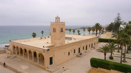 tunisia : Great Moslem Mosque on territory medieval fortress Ribat in Monastir, Tunisia
