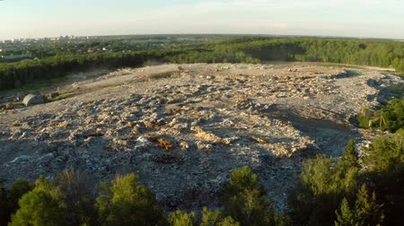 the garbage dump located in the forest aerial view