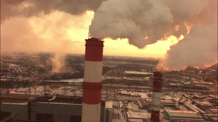 coal fired : Aerial of a coal fire power station.