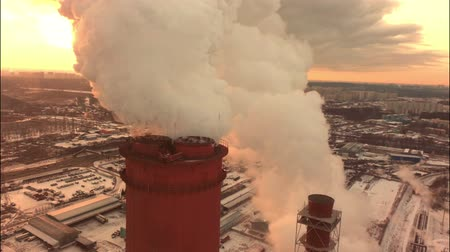 coal fired : Aerial of a coal fire power station,close up
