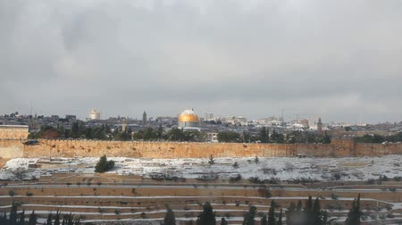 filistin : Overview of Old City in Jerusalem, Israel with The Dome of the Rock Mosque