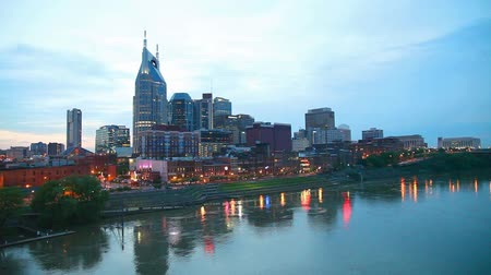 Downtown Nashville, TN in the evening