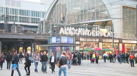 BERLIN - OCTOBER 2: Alexanderplatz subway station on October 2, 2014 in Berlin, Germany. Its a large public square and transport hub in the central Mitte district of Berlin, near the Fernsehturm