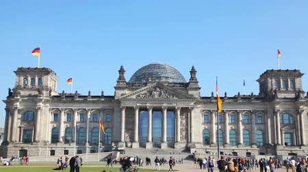 BERLIN - OCTOBER 4, 2014: Reichstag building on October 4, 2014 in Berlin, Germany. Its a historical edifice constructed to house the Imperial Diet of the German Empire.