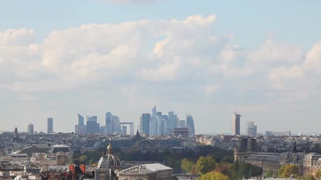 arche : Paris cityscape with La Defense at the horizon