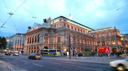 VIENNA - OCTOBER 20: Vienna State Opera at night on October 19, 2014 in Vienna. Its an opera house – and opera company – with a history dating back to the mid-19th century.