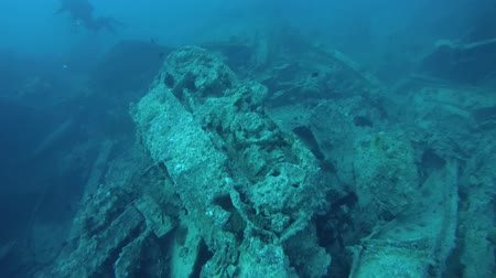ss : in erted tank on to wreck SS Thistlegorm, Sharm el Sheikh, Egypt, Sinai