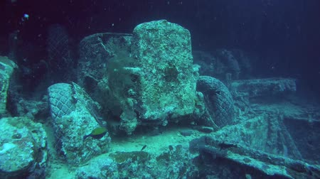 ss : car in the hold of a sunken ship SS Thistlegorm, Red Sea, Sharm el Sheikh, Egypt, Sinai