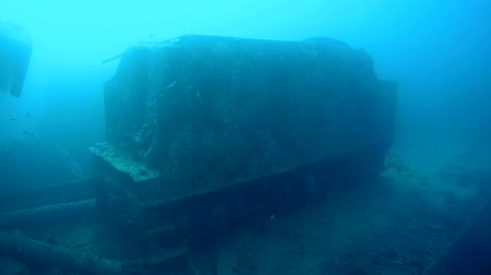 ss : rail car on the deck of the wreck SS Thistlegorm, Red Sea, Sharm el Sheikh, Egypt, Sinai