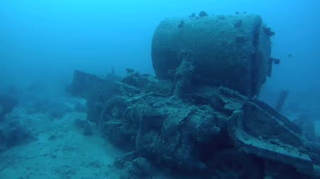 ss : The steam locomotive crashed on board the wreck Thistlegorm, Red Sea, Sharm el Sheikh, Egypt, Sinai
