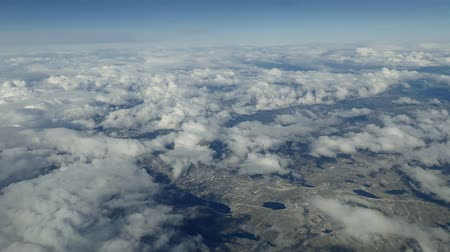 norueguês : Aerial view on Norway under clouds