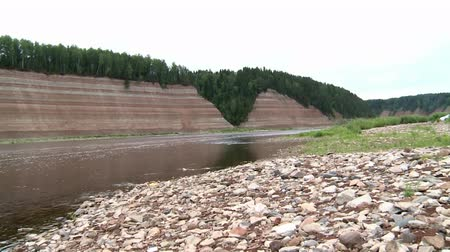 millennium : steep rocky Bank of the river in the North of Russia