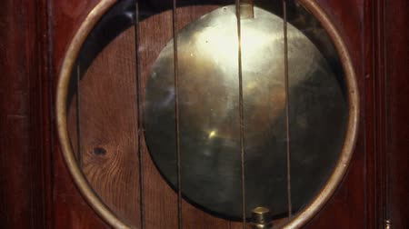 antiques : pendulum clocks.Chimes.Vintage, Stock Footage