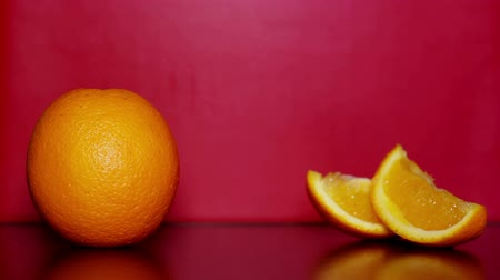 glicose : Orange and white sugar. Stock Footage