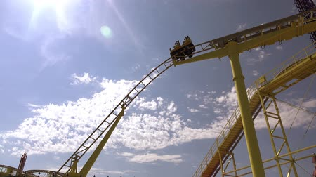 rolete : amusement Park. loop on a roller coaster