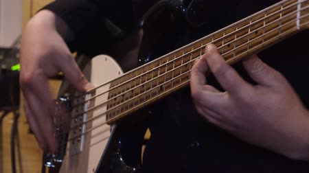 string instrument : Bass guitar.Lessons of guitar playing.
