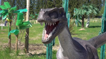 jura : Russia. Vologda - 20 may 2018. Park with animals of the Jurassic period. The dinosaur