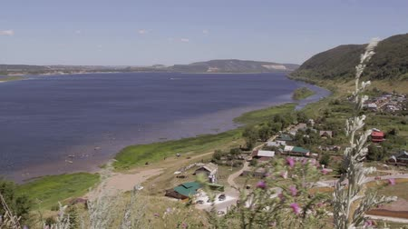 palatine : large river Volga and the Russian village