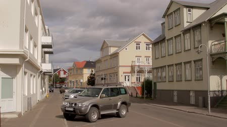 luxe : Akureyri, Iceland - AUG, 2014: typical street in icelandic town