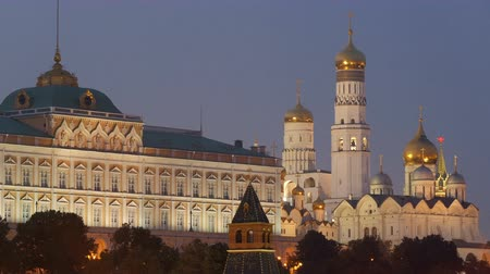 annunciation : Grand Kremlin Palace and Cathedral of the Annunciation in twilight