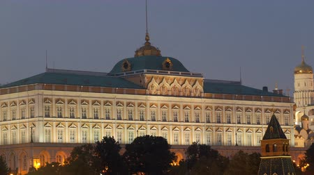 annunciation : Grand Kremlin Palace in twilight
