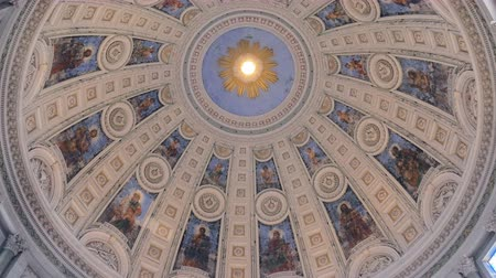 evangelical : round fresco on a dome inside a lutheran church of Frederick in Copenhagen