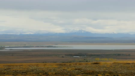 gigante : usual northern landscape in Iceland with glacier, lake and lava fields covered moss
