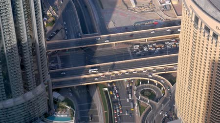 crossway : huge modern intersection in Dubai , view from top