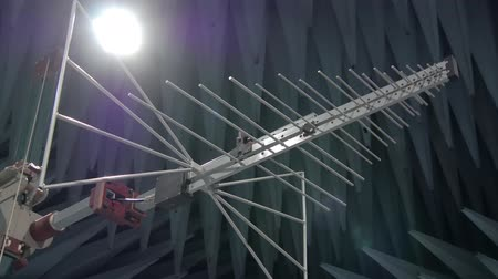 absorption : antenna for electromagnetic compatibility studies in radio-frequency anechoic chambers Stock Footage