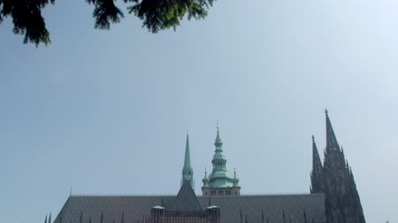 Богемия : panoramic view from sky to Saint Vitus Cathedral