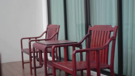 restorer : wooden chairs on balcony