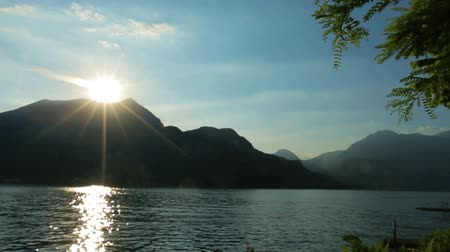 alpy : Wonderful dawn in the Como lake, Italy Honeymoon Dostupné videozáznamy
