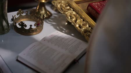 repentance : Holy Bible on the church altar