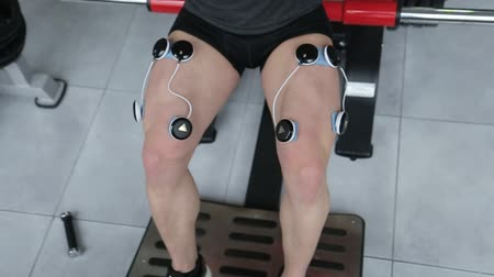 Electro stimulation of muscles, stimulation of muscles, treating sports injuries, myostimulator