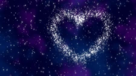 faerie : Star heart - A field of stars morphing into a heart shape - 20 seconds