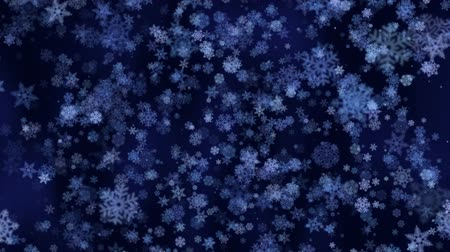 рождество : Snowflakes - Falling snow, loopable animation - 20 seconds
