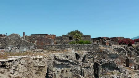 neapol : Ruins of ancient city Pompeii.  Italy. Mediterranean Europe.  Wideo
