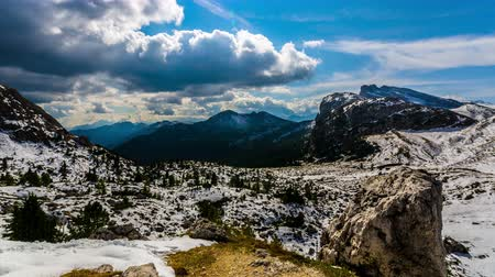 northen : Beautiful view of Dolomite Mountain, Northen Italy, 4k timelapse video. Stock Footage