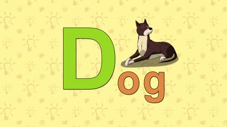 alphabet : Dog. English ZOO Alphabet - letter D