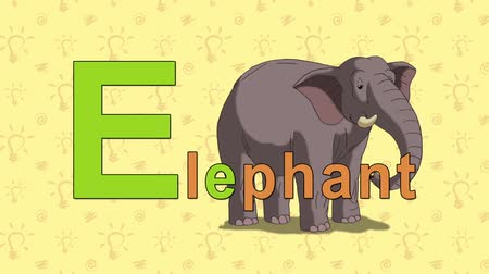 elefante : Elephant. English ZOO Alphabet - letter E Vídeos