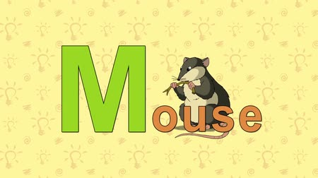 abeceda : Mouse. English ZOO Alphabet - letter M