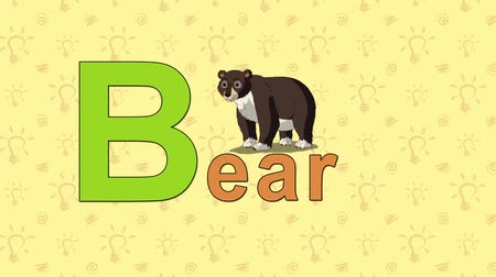 abeceda : Bear. English ZOO Alphabet - letter B
