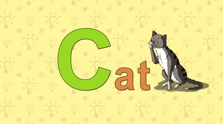 abeceda : Cat. English ZOO Alphabet - letter C