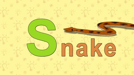 yılan : Snake. English ZOO Alphabet - letter S