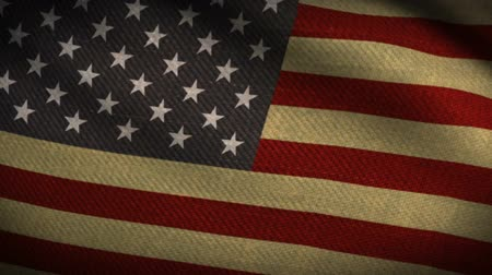 usa independence day : American Flag Style Fabric Vintage Slow Flow Down Stock Footage
