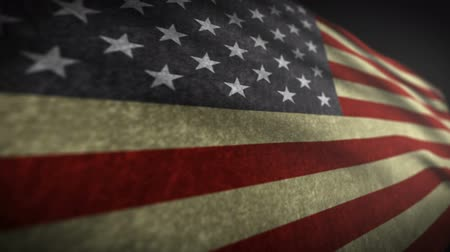 flaga : American Flag Style Grunge 3d Wideo