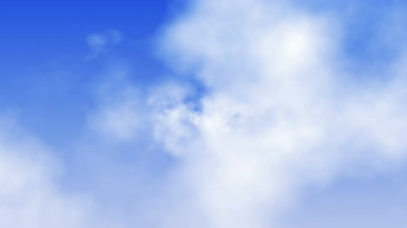 át : Heavenly Clouds Flyby (Loop). Fly through beautiful white volumetric clouds on blue sky. Seamless loop.